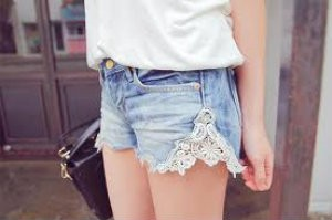 chelsea crockett lace shorts
