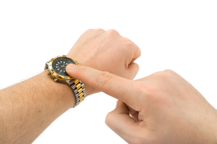 Hands and sport watch