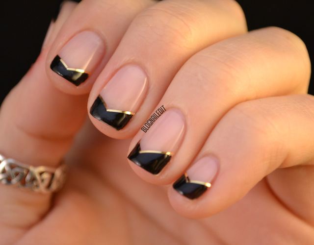 angled french manicure