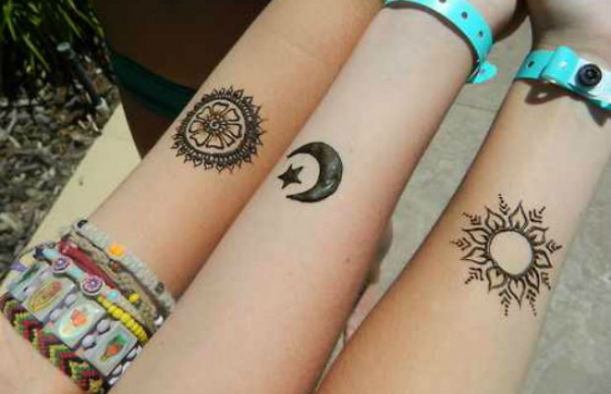 Temporary tattoos henna ink for Where can i get a temporary tattoo