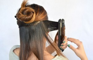 Chelsea Crockett- curling your hair with a straightener
