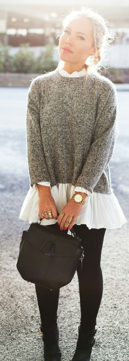 sweater frilly
