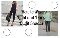 How to Mix Light and Dark Outfit Shades