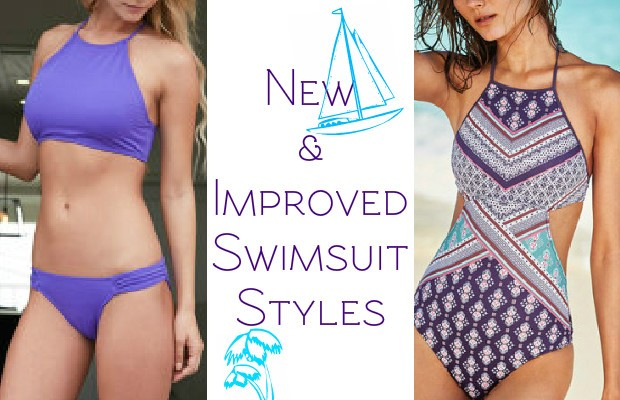 Halter styles such as the Clean Water Geo Print Halter One Piece ($40, reasonarchivessx.cf) and tanks like the Robby Len by Longitude One Piece Swimsuit Plus ($59, reasonarchivessx.cf) have just enough spandex for smoothing without squeezing.