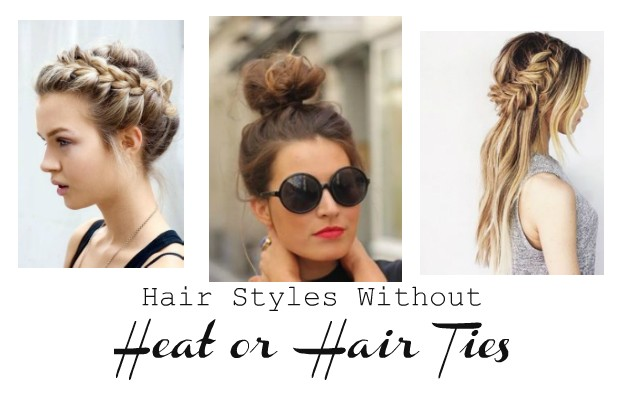 Hair Styles Without Heat Or Hair Ties