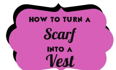chelsea crockett turn a scarf into a vest