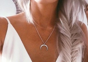 Chelsea Crockett - Moon Pendant Necklace