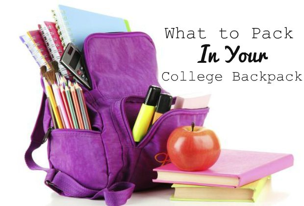 chelsea crockett what to pack in your college backpack