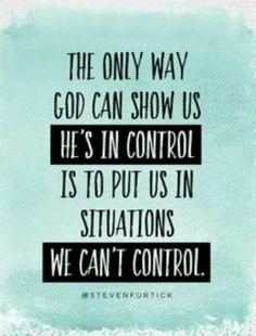 how god shows us he is in control