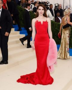 Chelsea Crockett - Met Gala Red Dress
